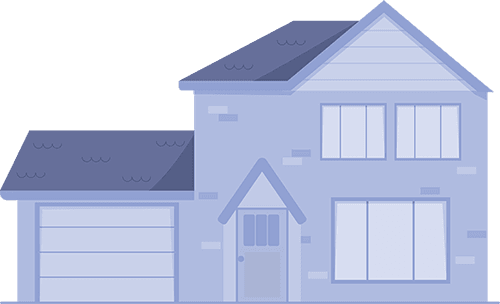 Blue house for sale