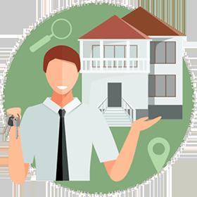 - Real estate agent handing keys