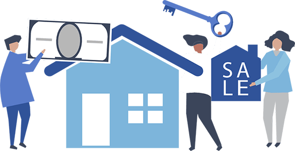 Realtors during home sale