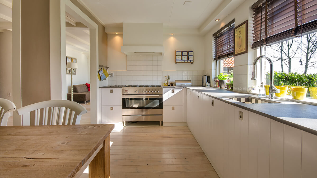 staged kitchen for house selling