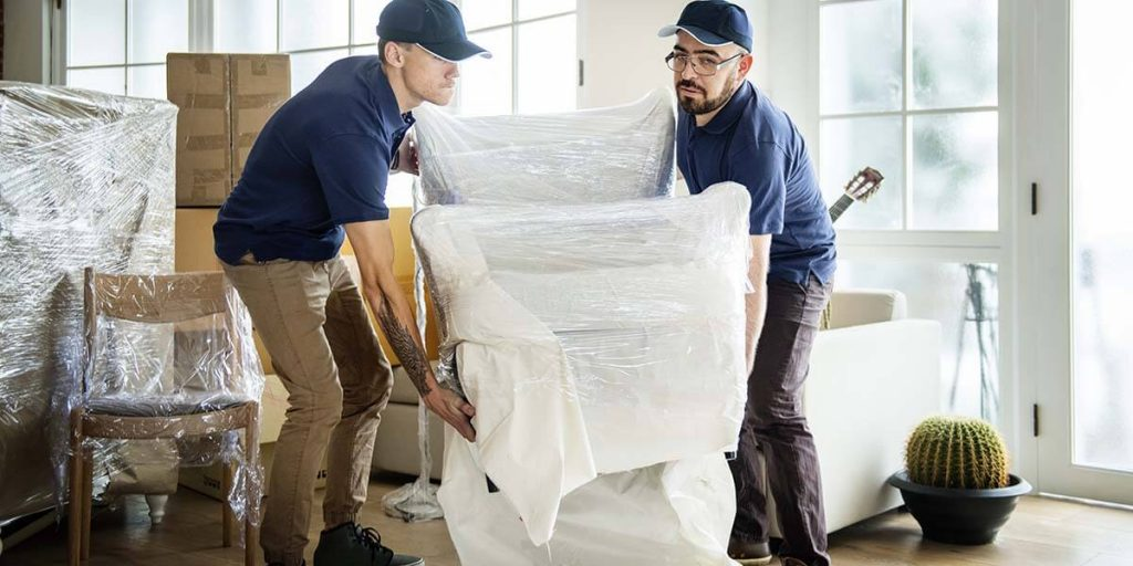 moving company carrying furniture