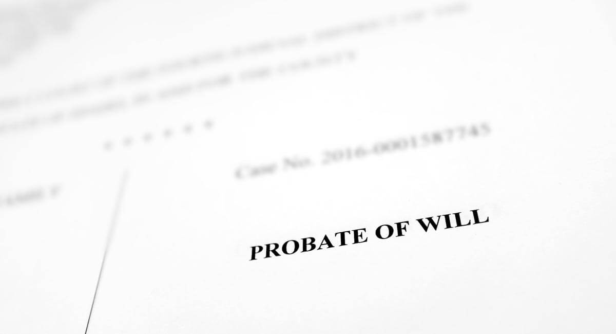 probate of will front page